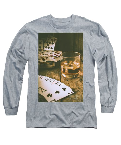 Table Games And The Wild West Saloon  Long Sleeve T-Shirt