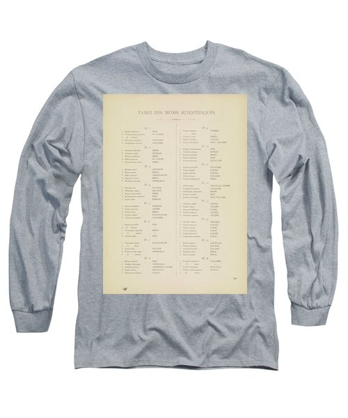 Table Of Contents Long Sleeve T-Shirt