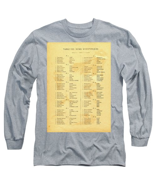 Table Long Sleeve T-Shirt