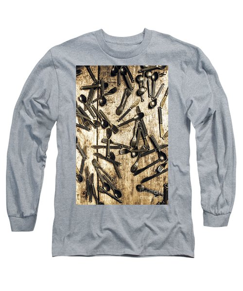 Tableware Abstract Long Sleeve T-Shirt