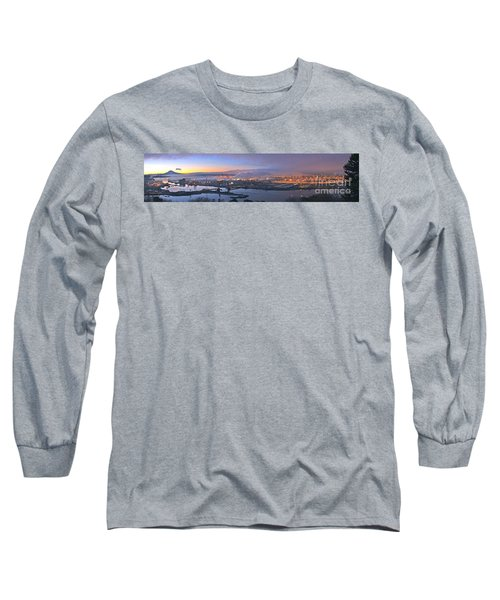 Long Sleeve T-Shirt featuring the photograph Tacoma Dawn Panorama by Sean Griffin