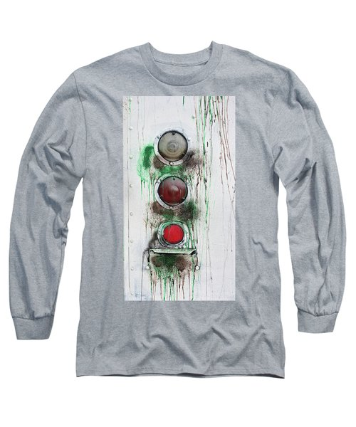 Long Sleeve T-Shirt featuring the photograph Taillights On A Very Old Bus by Gary Slawsky