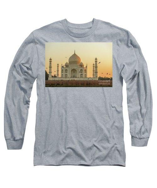 Taj Mahal At Sunset 01 Long Sleeve T-Shirt