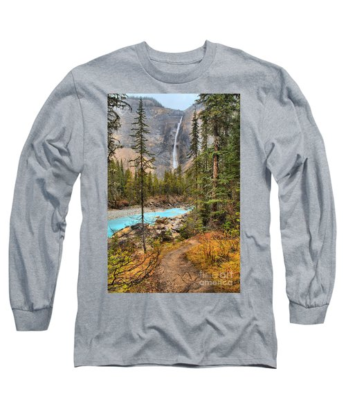Long Sleeve T-Shirt featuring the photograph Takakkaw Falls Fall Portrait by Adam Jewell