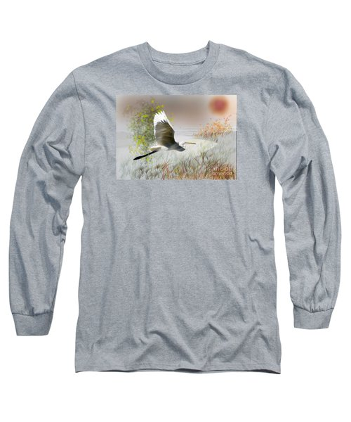 Long Sleeve T-Shirt featuring the photograph Take Off by Gary Bridger
