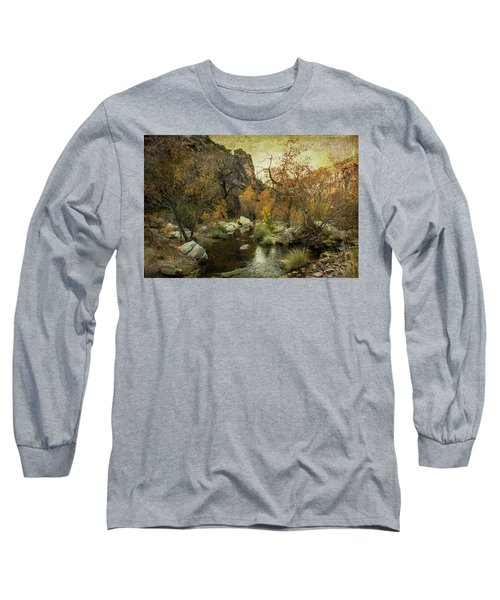 Taking A Hike Long Sleeve T-Shirt by Barbara Manis