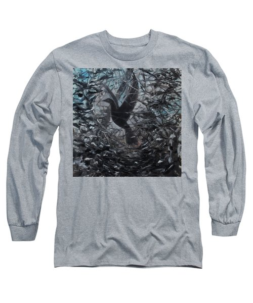 Long Sleeve T-Shirt featuring the painting Taking Flight by Tone Aanderaa