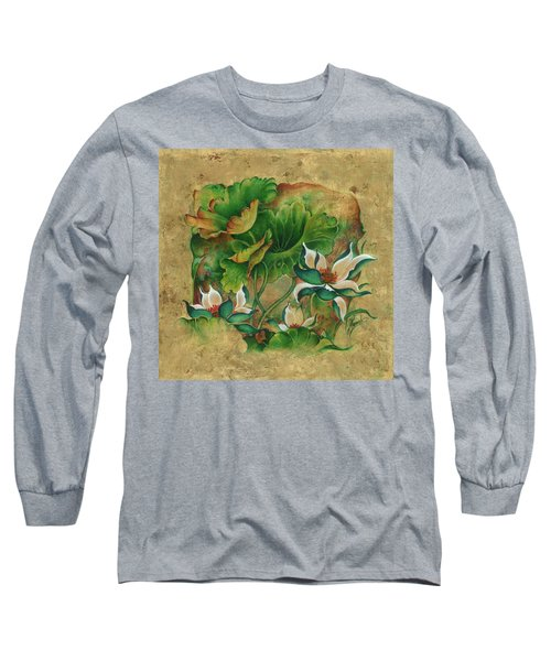 Long Sleeve T-Shirt featuring the painting Talks About The Essence Of Life by Anna Ewa Miarczynska