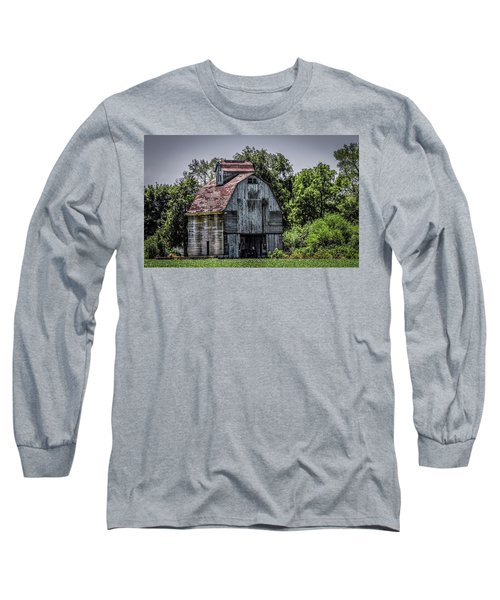 Long Sleeve T-Shirt featuring the photograph Tall Barn by Ray Congrove
