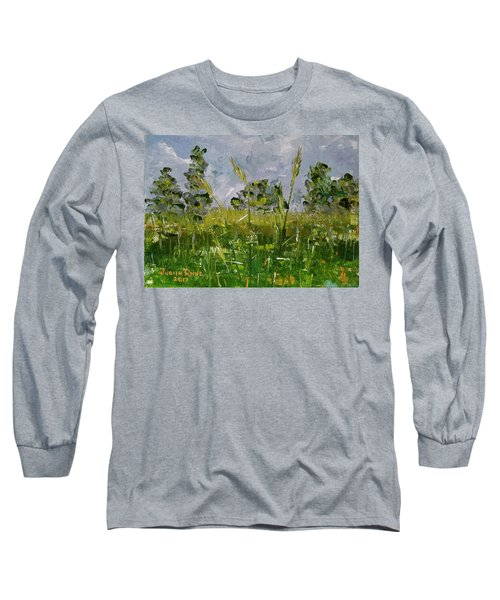 Long Sleeve T-Shirt featuring the painting Tall Grass by Judith Rhue