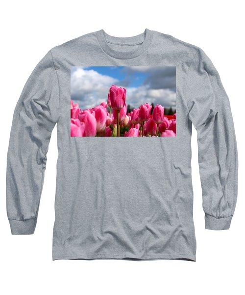 Tall Standing Tulip Long Sleeve T-Shirt