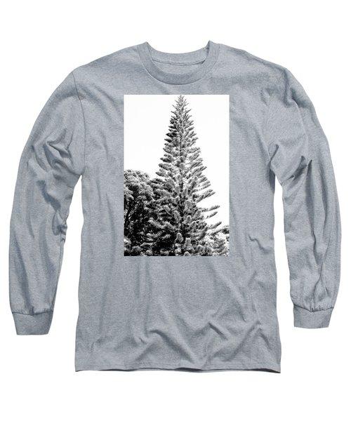 Tall Tree Bw - Lan11 Long Sleeve T-Shirt by G L Sarti