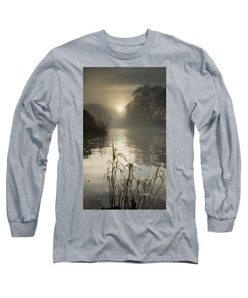 Tamar River Winter  Sunrise, Uk Long Sleeve T-Shirt