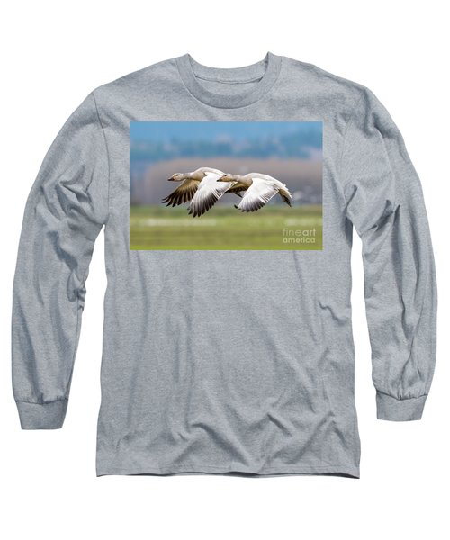 Long Sleeve T-Shirt featuring the photograph Tandem Glide by Mike Dawson