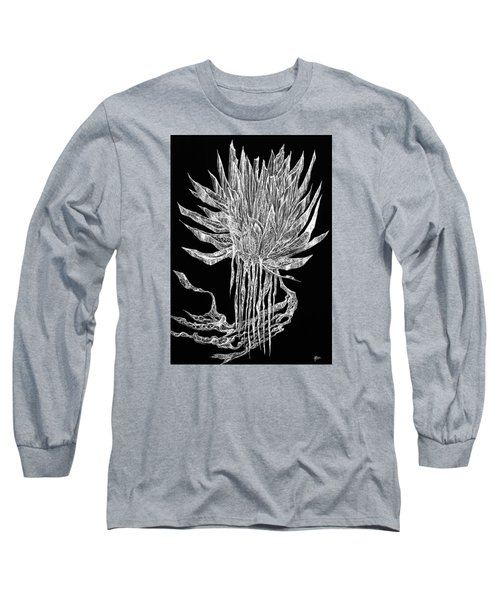 Tangled Thimbleweed Long Sleeve T-Shirt by Charles Cater