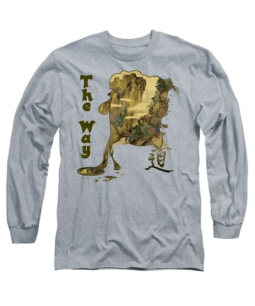 Long Sleeve T-Shirt featuring the painting Tani Buncho Chi by Robert G Kernodle