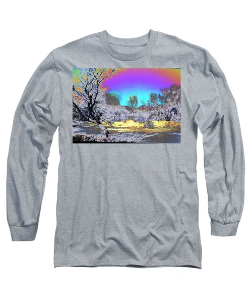 Tanque Verde Wash Abstract Long Sleeve T-Shirt by M Diane Bonaparte