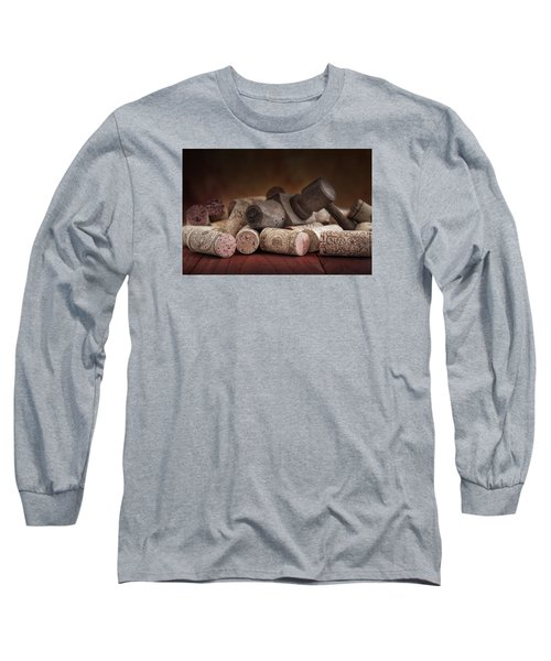 Tapped Out - Wine Tap With Corks Long Sleeve T-Shirt