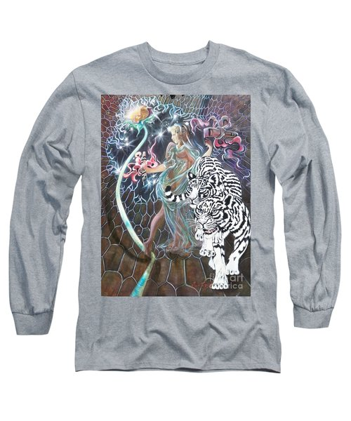 Long Sleeve T-Shirt featuring the painting Tapping The Lifeline by Sigrid Tune