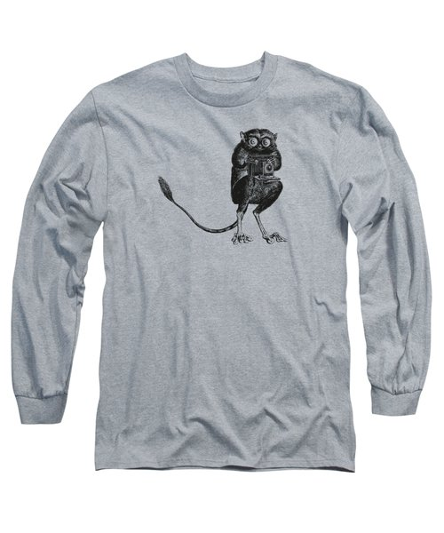 Tarsier With Vintage Camera Long Sleeve T-Shirt
