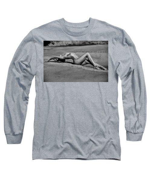 Tattoo Woman On The Beach Long Sleeve T-Shirt