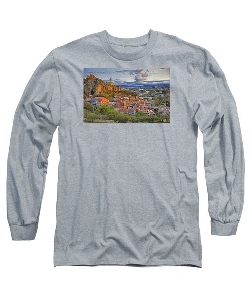 Tblisi Dawn Long Sleeve T-Shirt by Dennis Cox WorldViews