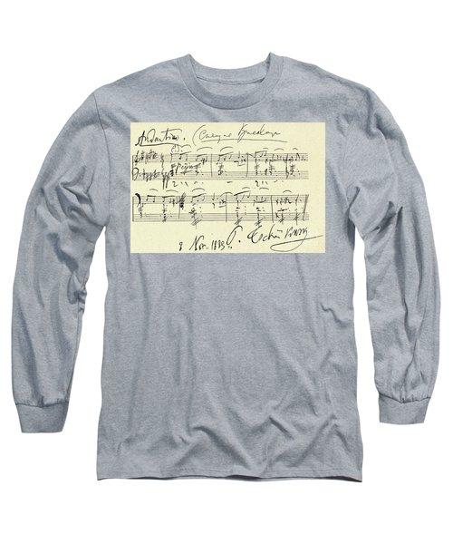 Tchaikovsky Autographed Score Long Sleeve T-Shirt
