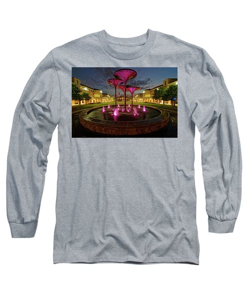 Long Sleeve T-Shirt featuring the photograph Tcu Frog Fountain by Jonathan Davison