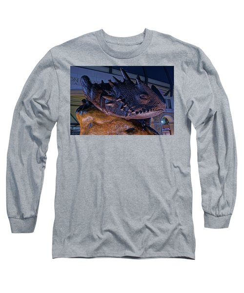 Tcu Frog Mascot Long Sleeve T-Shirt by Jonathan Davison