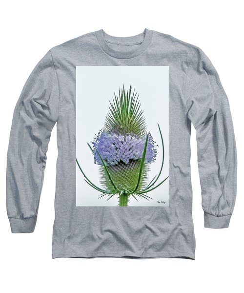 Teasel On White Long Sleeve T-Shirt