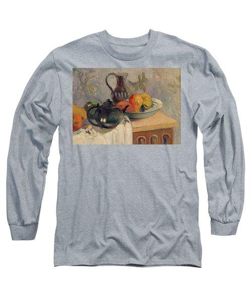 Teiera Brocca E Frutta Long Sleeve T-Shirt by Paul Gauguin