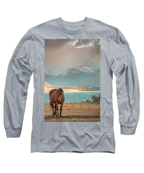 Tekapo Horse Long Sleeve T-Shirt