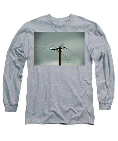 Telegraph Lines Long Sleeve T-Shirt by Charlie and Norma Brock