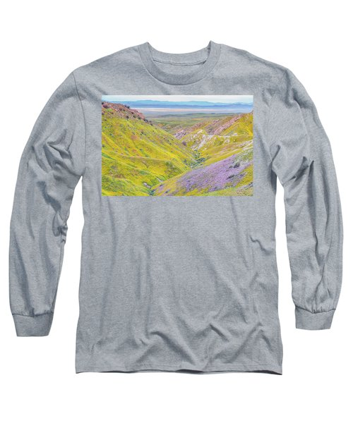 Long Sleeve T-Shirt featuring the photograph Temblor Range View To Caliente Range by Marc Crumpler