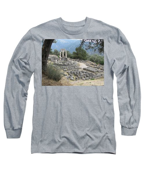Temple Of Athena At Delphi Long Sleeve T-Shirt