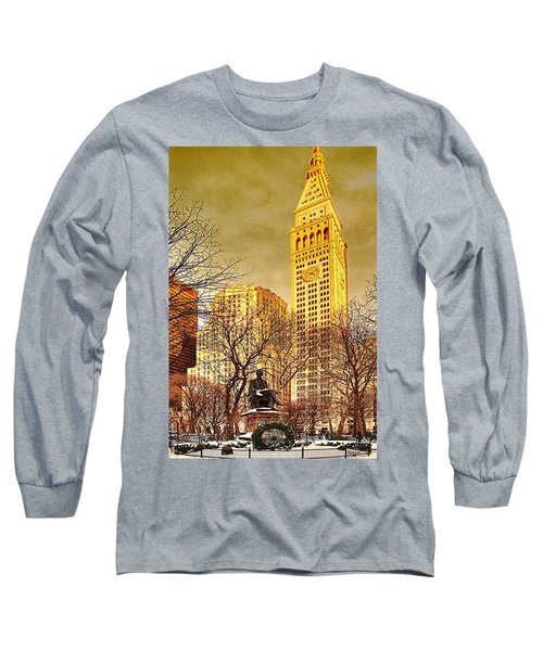 Ten Past Four At Madison Square Park Long Sleeve T-Shirt by Chris Lord
