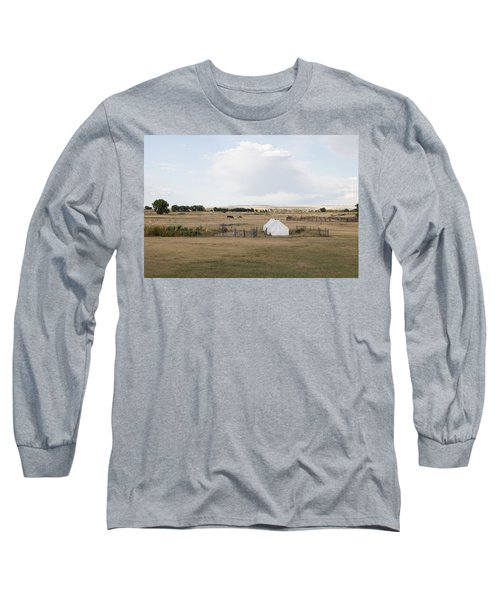 Long Sleeve T-Shirt featuring the photograph Tents At Fort Laramie National Historic Site In Goshen County by Carol M Highsmith