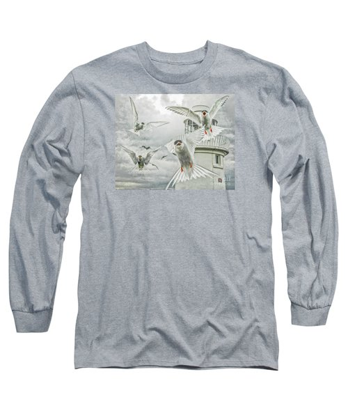 Long Sleeve T-Shirt featuring the photograph Tern Attack by Brian Tarr