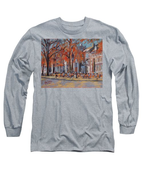 Terrace In The Grand Tanners Street Maastricht Long Sleeve T-Shirt by Nop Briex
