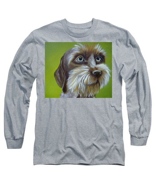 Terrier Waiting Patiently Long Sleeve T-Shirt