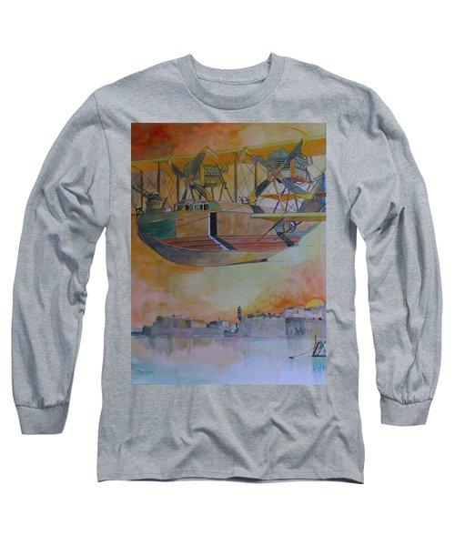 Test Flight Long Sleeve T-Shirt by Ray Agius