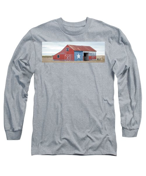 Texas Barn With Goats And Ram On The Side Long Sleeve T-Shirt