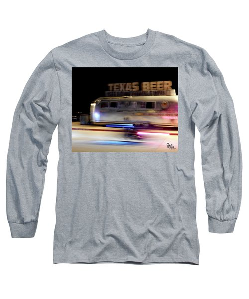Texas Beer Fast Motorcycle #5594 Long Sleeve T-Shirt by Barbara Tristan