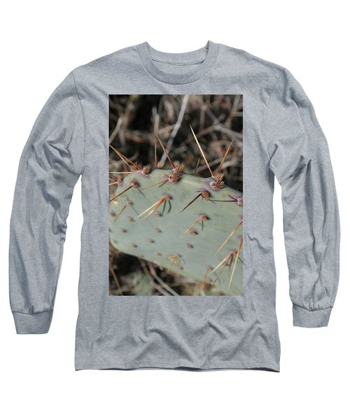 Long Sleeve T-Shirt featuring the photograph Texas Spikes by Laddie Halupa