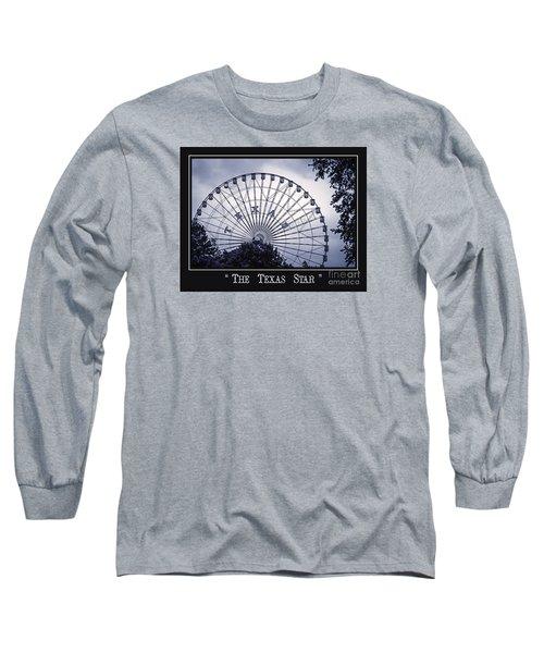 Texas Star In Blue Long Sleeve T-Shirt