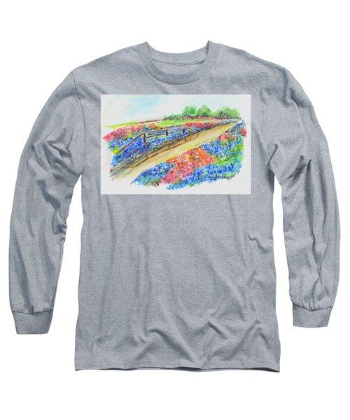 Texas Wild Flowers Long Sleeve T-Shirt