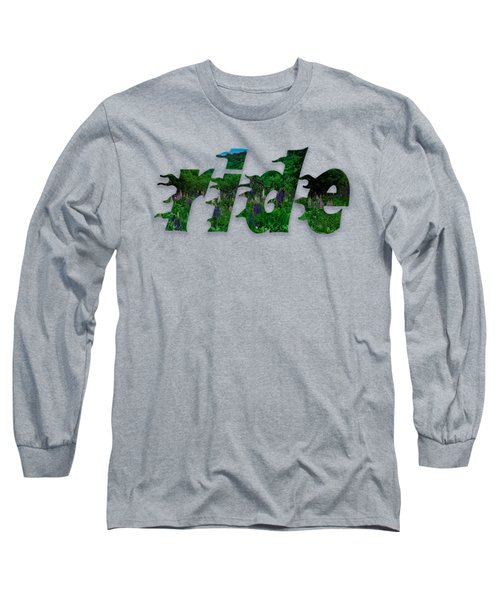 Text Lupen Ride Long Sleeve T-Shirt by Mim White