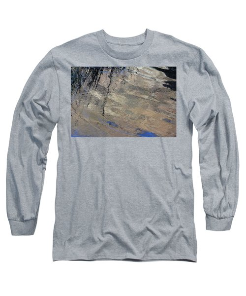 Texture In Grey Long Sleeve T-Shirt