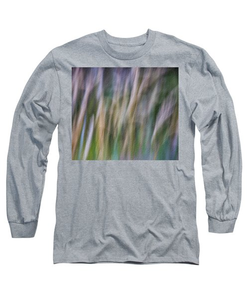 Textured Abstract Long Sleeve T-Shirt