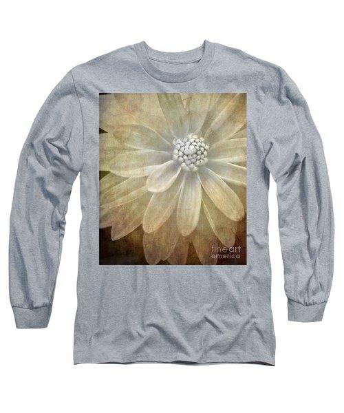 Textured Dahlia Long Sleeve T-Shirt by Meirion Matthias